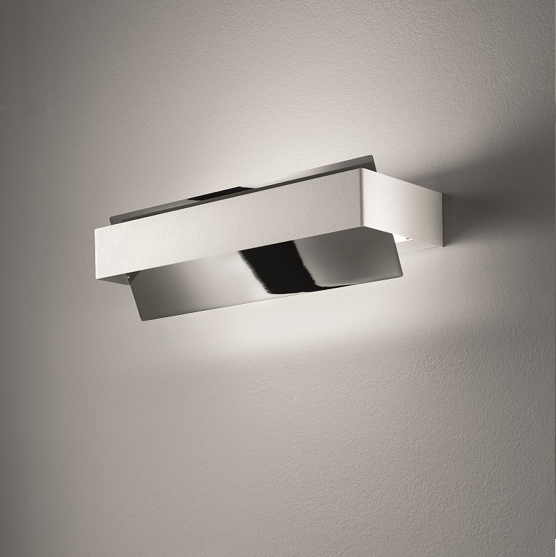 schwenkbare wandleuchte chrom blattgold chrom blattgold. Black Bedroom Furniture Sets. Home Design Ideas