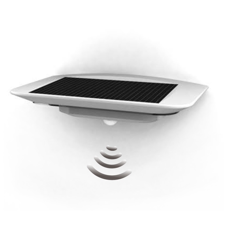 design solar led leuchte mit bewegungsmelder ip44 aus. Black Bedroom Furniture Sets. Home Design Ideas