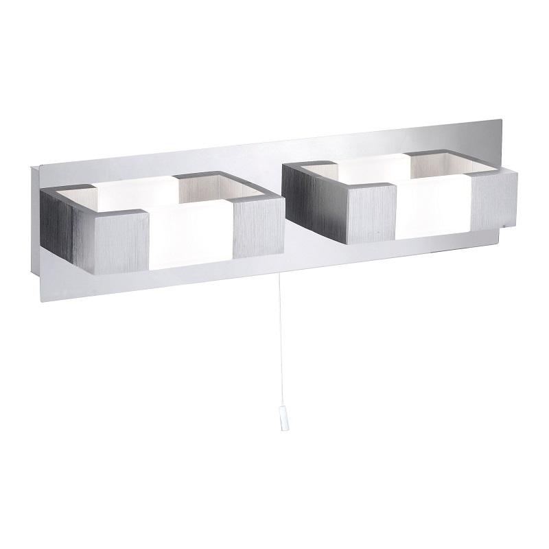 eckige led wandleuchte kemos mit zugschalter wohnlicht. Black Bedroom Furniture Sets. Home Design Ideas