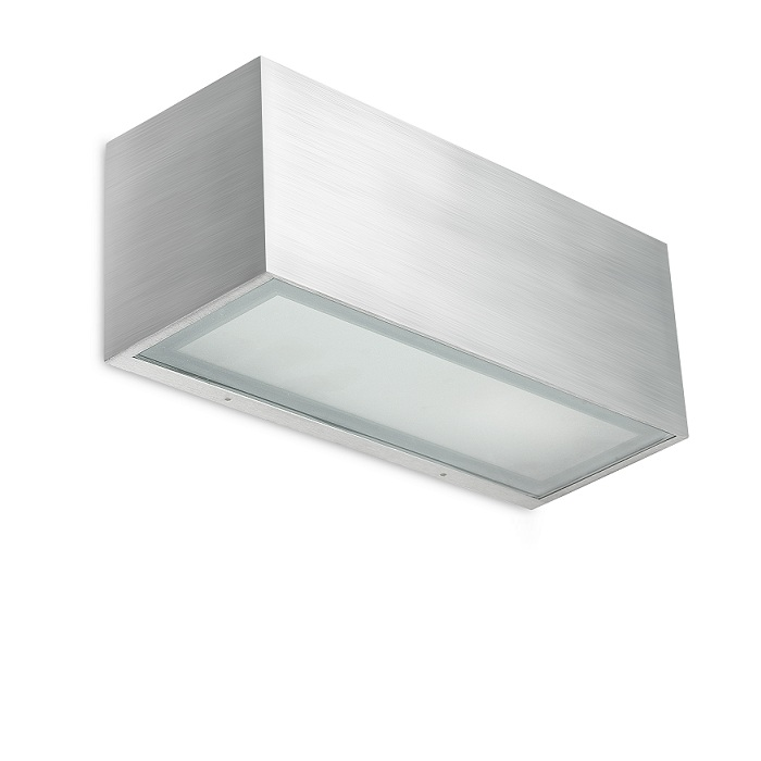 eckige wandleuchte in wei oder aluminium geb rstet indirektes licht wohnlicht. Black Bedroom Furniture Sets. Home Design Ideas