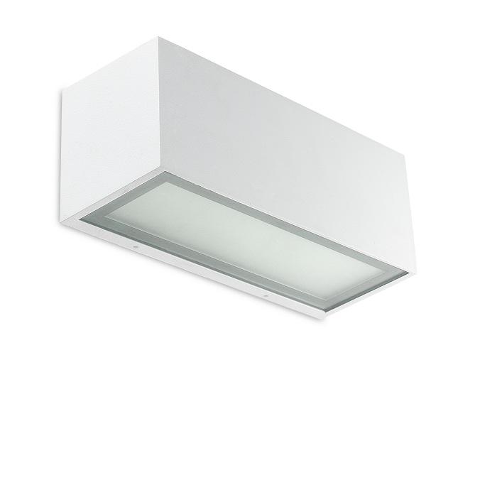 eckige wandleuchte in wei indirektes licht wei ip44 wohnlicht. Black Bedroom Furniture Sets. Home Design Ideas