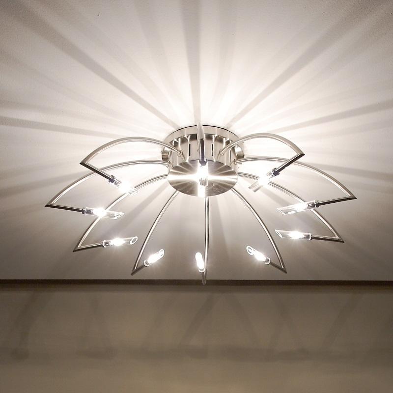 effekt deckenlampe in nickel matt wohnlicht. Black Bedroom Furniture Sets. Home Design Ideas