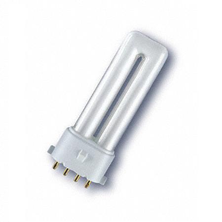 energiesparlampe osram dulux s e 2g7 f r evg 9w warmwei wohnlicht. Black Bedroom Furniture Sets. Home Design Ideas