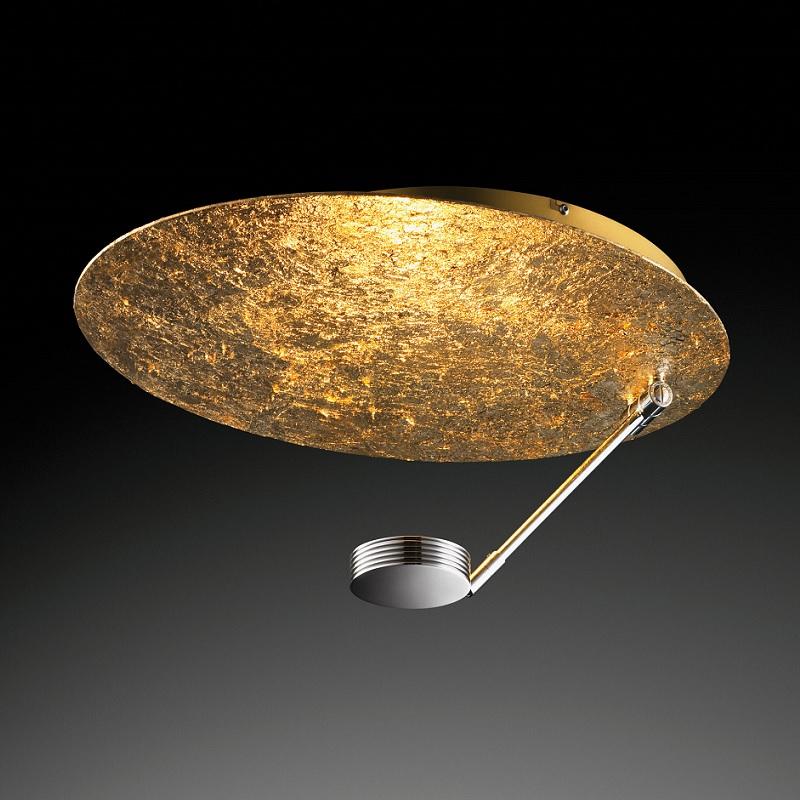 extravagante led deckenleuchte blattgold beschichtet gold blattgold wohnlicht. Black Bedroom Furniture Sets. Home Design Ideas