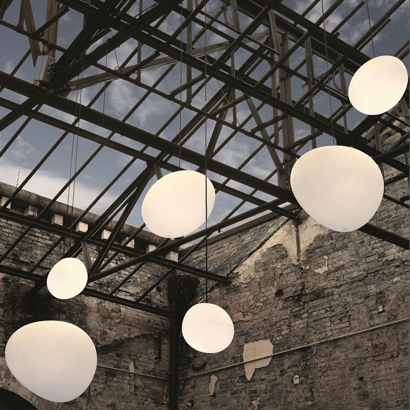 foscarini pendelleuchte outdoor gregg bianco 3 gr en wohnlicht. Black Bedroom Furniture Sets. Home Design Ideas