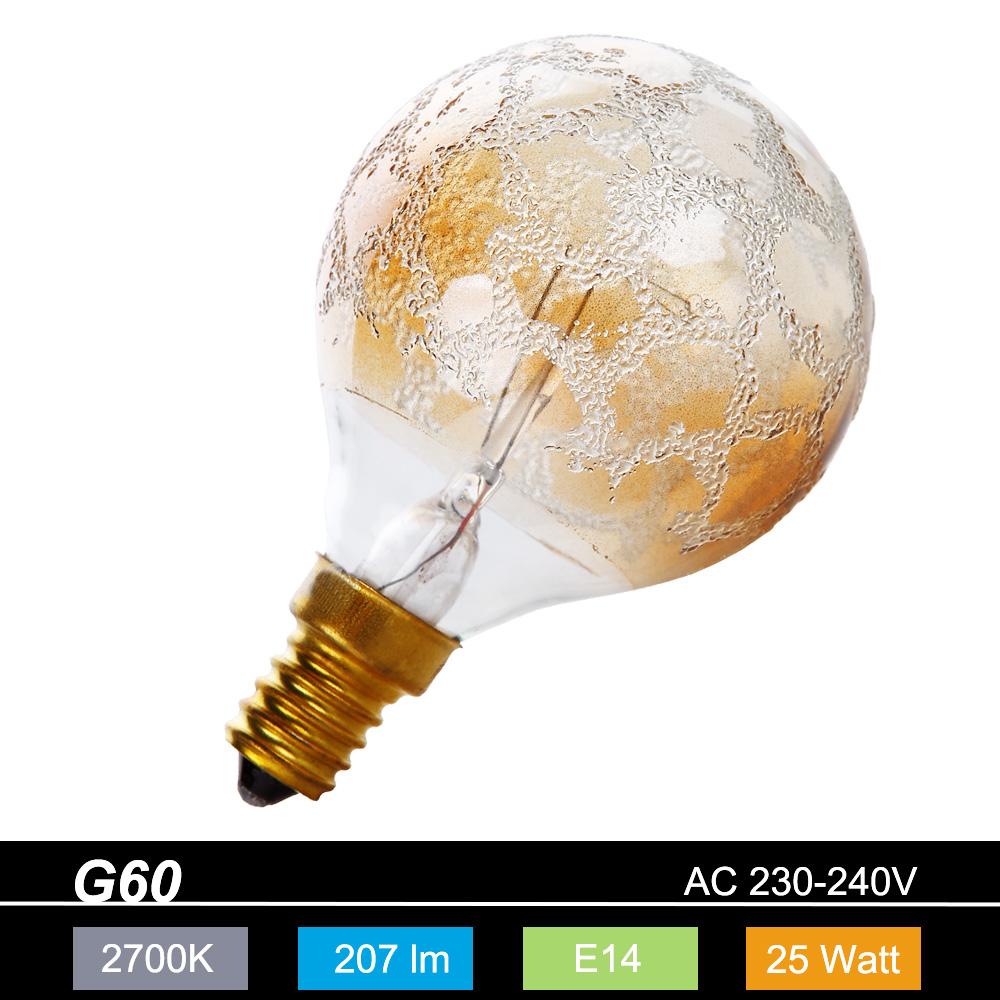g60 globe e14 krokoeis gold 25 watt 1x 25 watt 25 watt 207 0 lumen wohnlicht. Black Bedroom Furniture Sets. Home Design Ideas