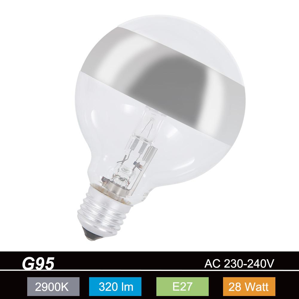 g95 globe ringspiegel silber e27 28 watt entspricht 40 watt wohnlicht. Black Bedroom Furniture Sets. Home Design Ideas