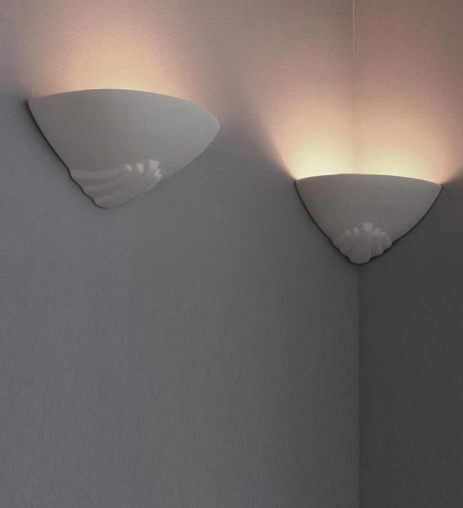 gips wandleuchte f r die wand und f r die ecke wohnlicht. Black Bedroom Furniture Sets. Home Design Ideas