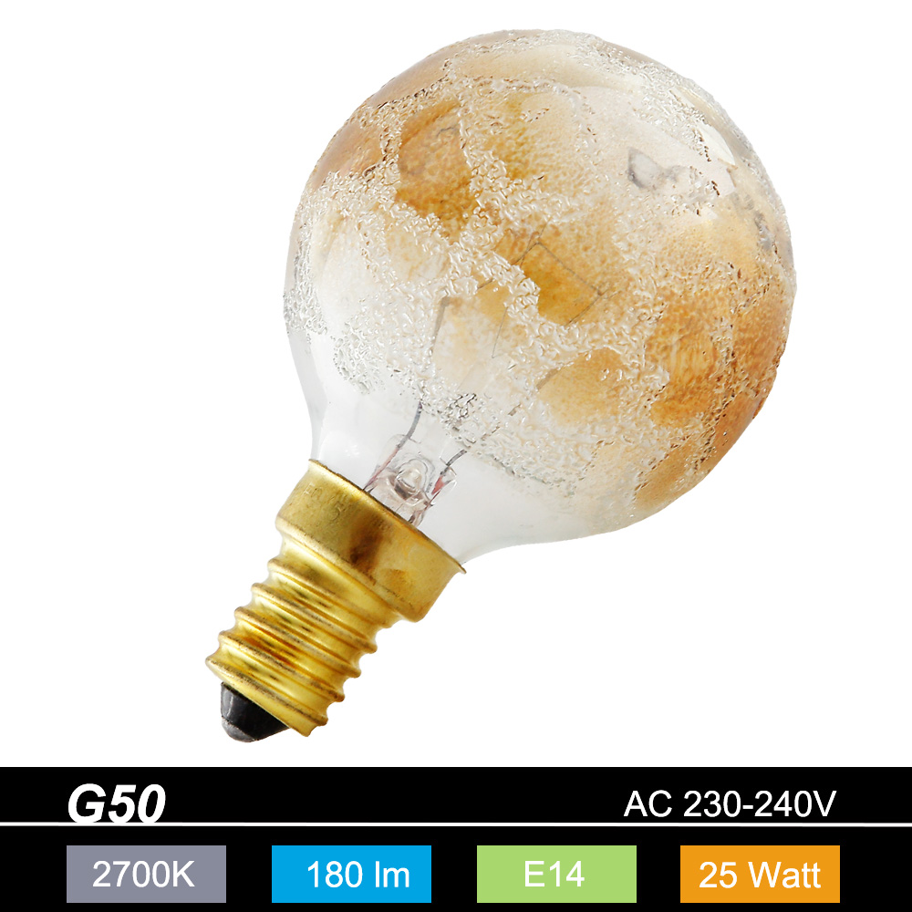 gl hlampe leuchtmittel g50 globe e14 krokogold 25 watt blendreduziert dekorativ wohnlicht. Black Bedroom Furniture Sets. Home Design Ideas