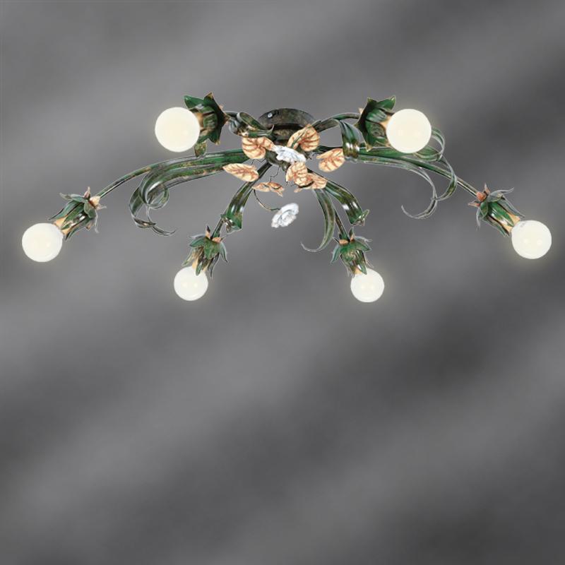 handgefertigte florentiner deckenleuchte 6 flammig 6x 40 watt 24 00 cm 80 00 cm 58 00 cm. Black Bedroom Furniture Sets. Home Design Ideas