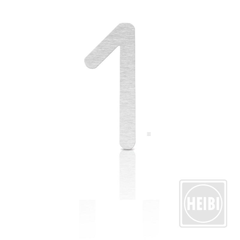 hausnummer aus edelstahl zum kleben h he 16cm nummer 1 hausnummer 1 wohnlicht. Black Bedroom Furniture Sets. Home Design Ideas