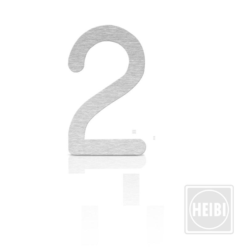 hausnummer aus edelstahl zum kleben h he 16cm nummer 2 hausnummer 2 wohnlicht. Black Bedroom Furniture Sets. Home Design Ideas