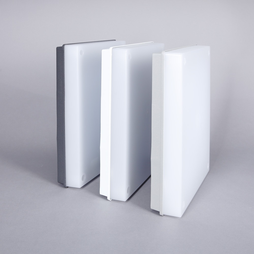 hausnummernleuchte mit 8w led und 550 lumen mit d mmerungsschalter farbe wei wei wohnlicht. Black Bedroom Furniture Sets. Home Design Ideas