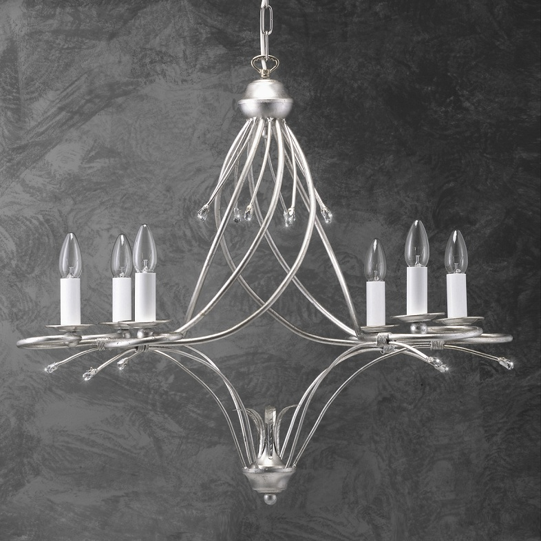 hochwertiger moderner kronleuchter blattsilber wohnlicht. Black Bedroom Furniture Sets. Home Design Ideas