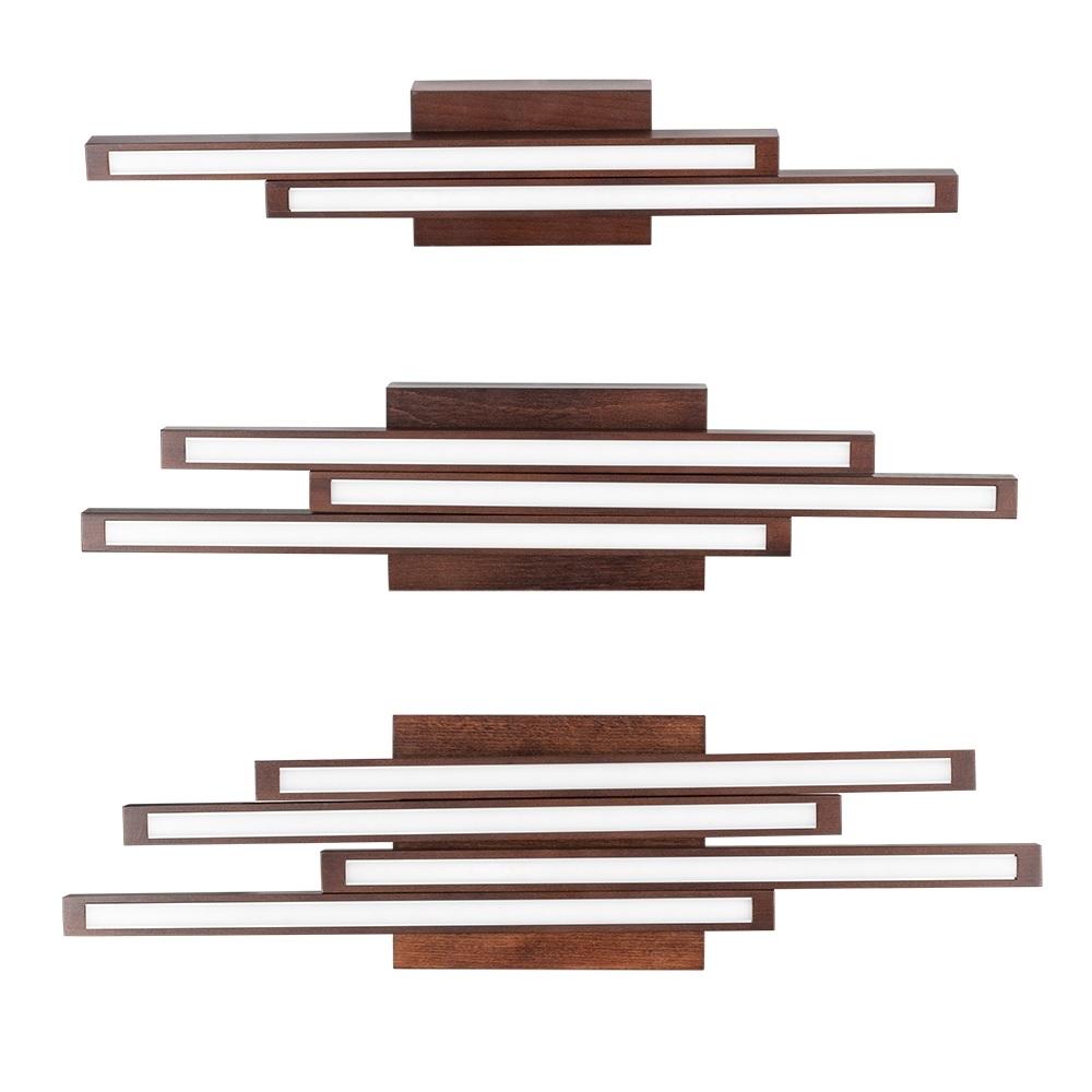 Holz deckenleuchte linus straight buche in nussbaum for Holz deckenleuchte