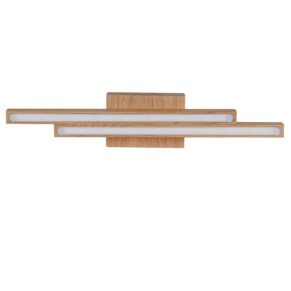 Holz deckenleuchte linus eiche ge lt 2 flammig 2x 6 watt for Holz deckenleuchte