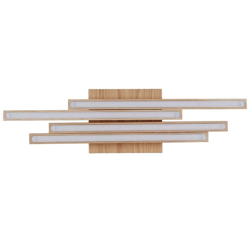 holz deckenleuchte linus eiche ge lt 4 flammig 4x 6 watt 58 00 cm 15 50 cm wohnlicht. Black Bedroom Furniture Sets. Home Design Ideas