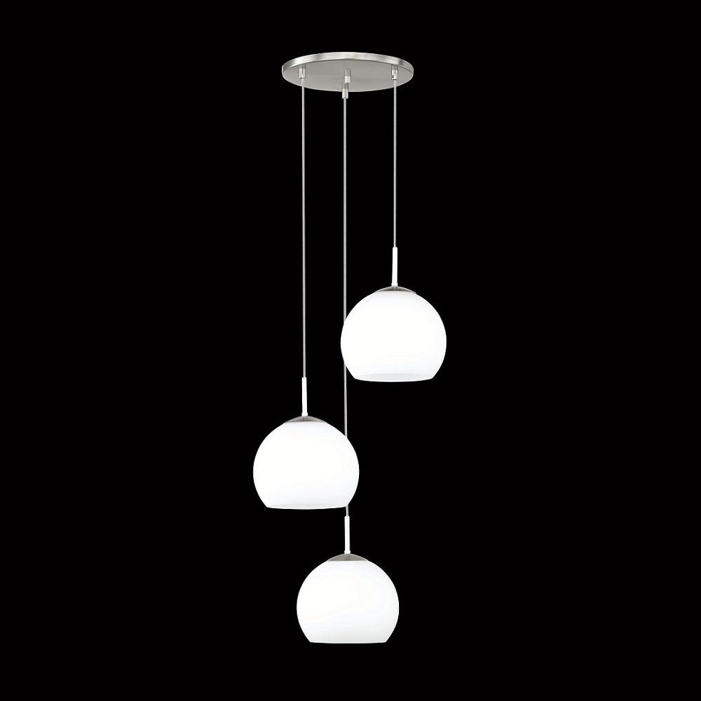 hufnagel 3 flammige pendelleuchte bolero in nickel matt wohnlicht. Black Bedroom Furniture Sets. Home Design Ideas