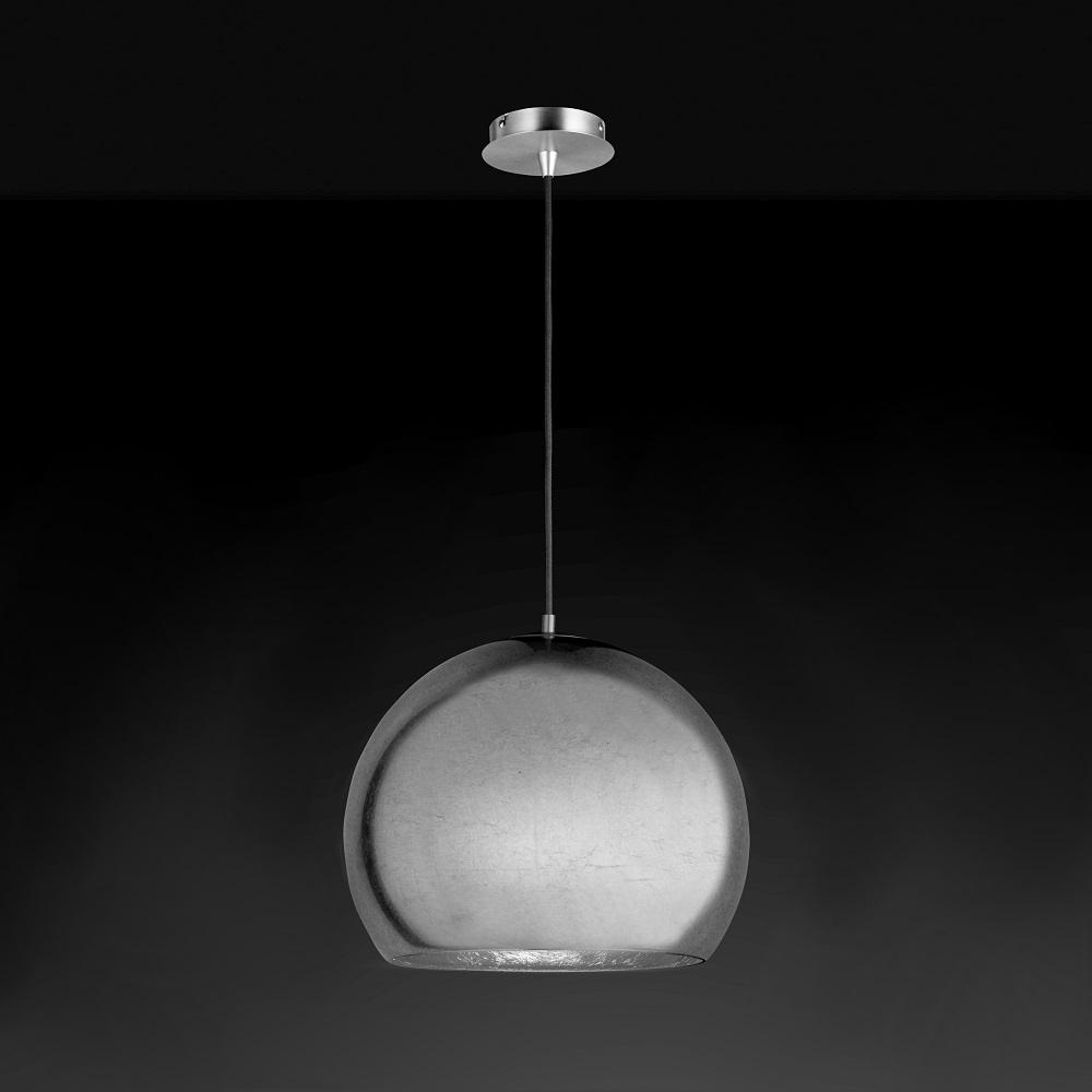 hufnagel kugel pendelleuchte bolero in silber wohnlicht. Black Bedroom Furniture Sets. Home Design Ideas