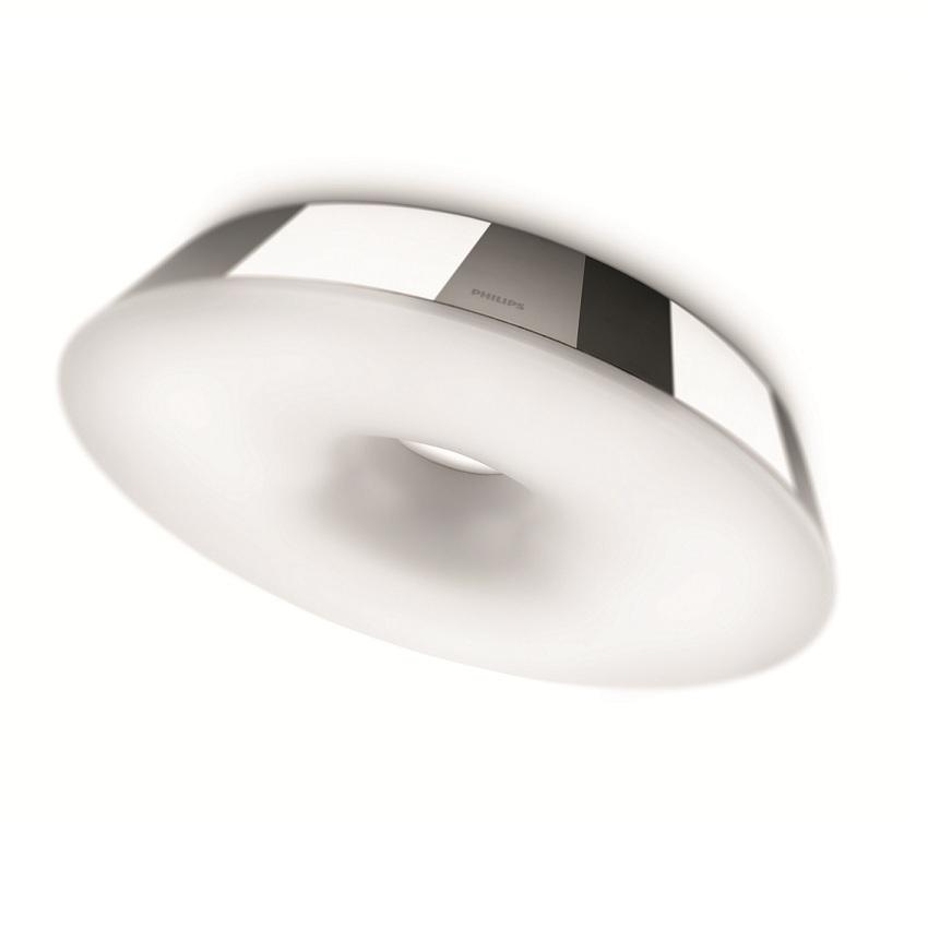 ideale hauptbeleuchtung f r das badezimmer runde deckenleuchte inklusive ringr hre chrom. Black Bedroom Furniture Sets. Home Design Ideas