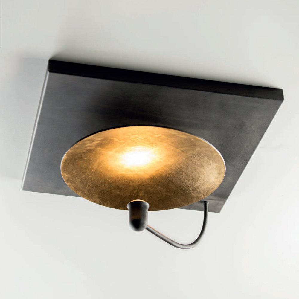indirekte deckenleuchte eisen natur goldfarbe quadratisch wohnlicht. Black Bedroom Furniture Sets. Home Design Ideas