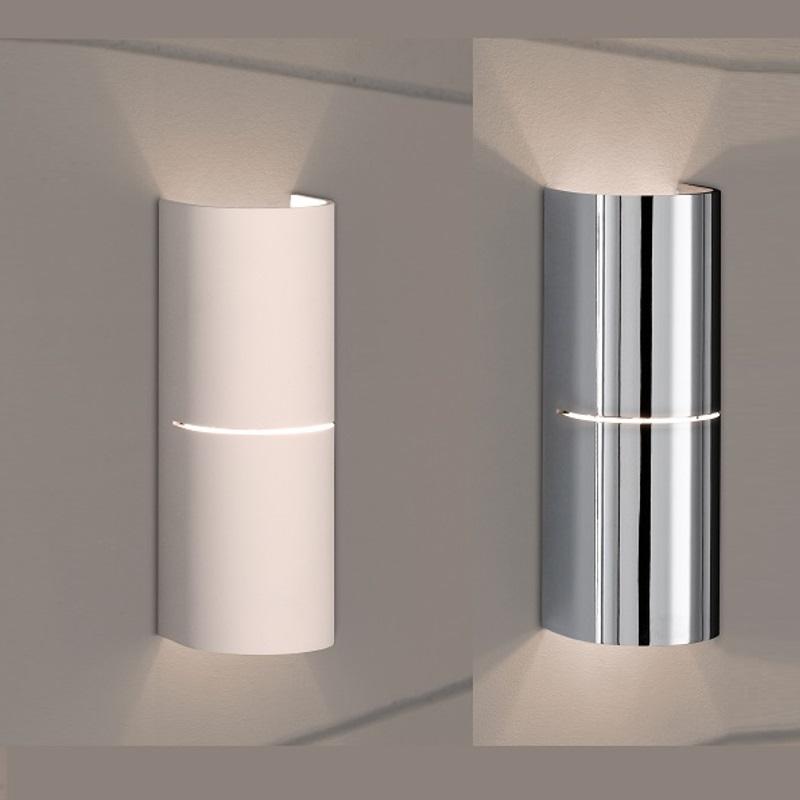 indirekte wandleuchte in wei oder nickel matt wohnlicht. Black Bedroom Furniture Sets. Home Design Ideas