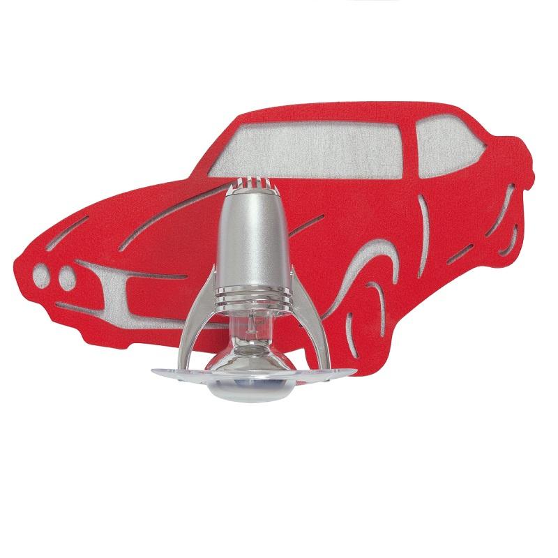 kinder wandleuchte auto 1 flammig rot wohnlicht. Black Bedroom Furniture Sets. Home Design Ideas