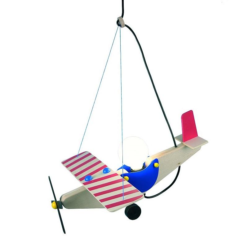kinder deckenlampe als flugzeug aus holz wohnlicht. Black Bedroom Furniture Sets. Home Design Ideas