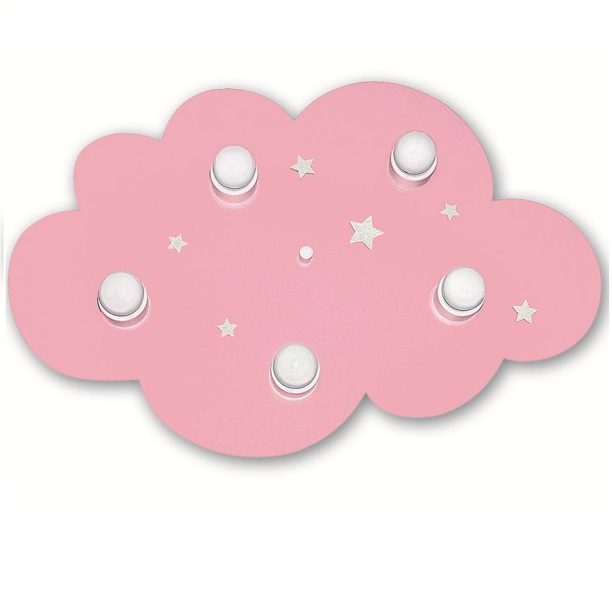 Kinderzimmer Deckenleuchte Wolke In Rosa, 5-flg.