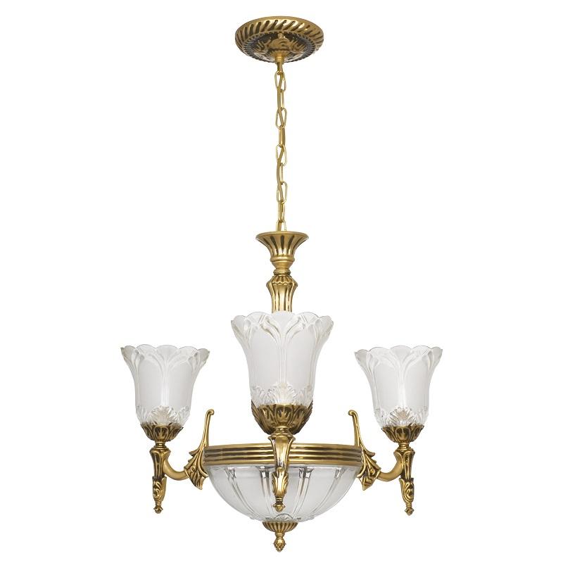klassische pendelleuchte aus metall in messing antik glas mit klarstruktur wohnlicht. Black Bedroom Furniture Sets. Home Design Ideas