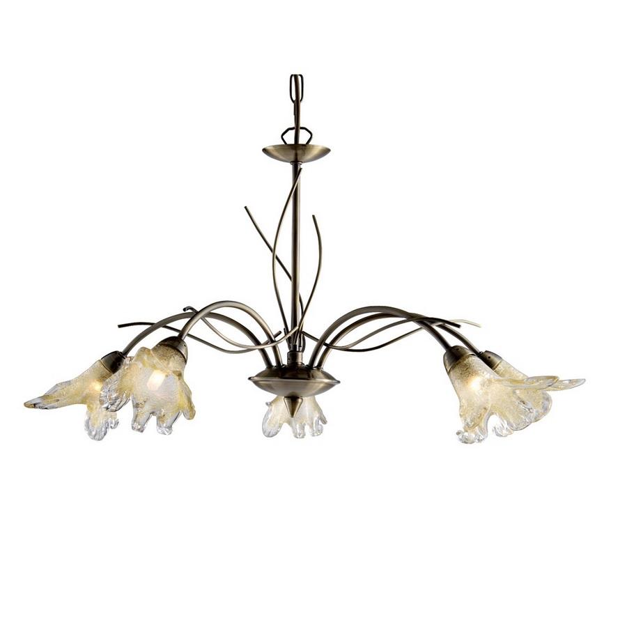 klassische pendelleuchte lily in messing antik mit. Black Bedroom Furniture Sets. Home Design Ideas