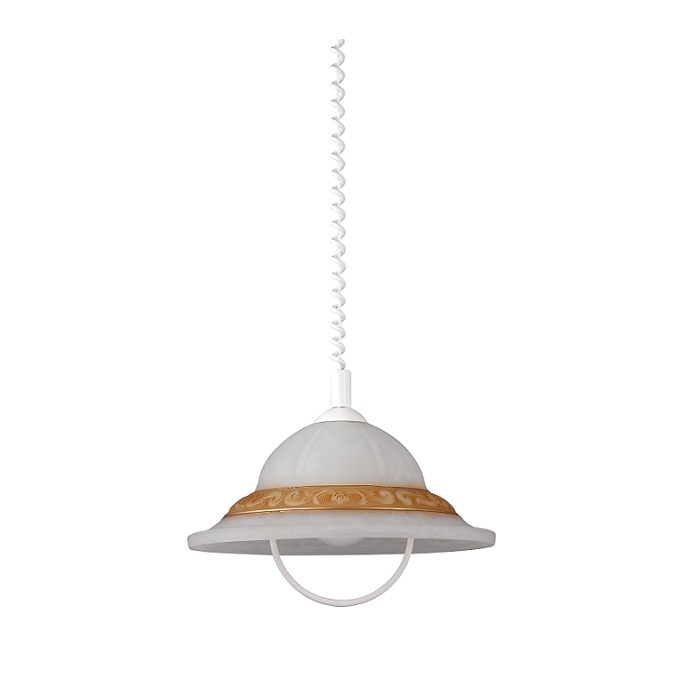 klassische pendelleuchte mit alabasterglas h henverstellbar durchmesser 40cm wohnlicht. Black Bedroom Furniture Sets. Home Design Ideas