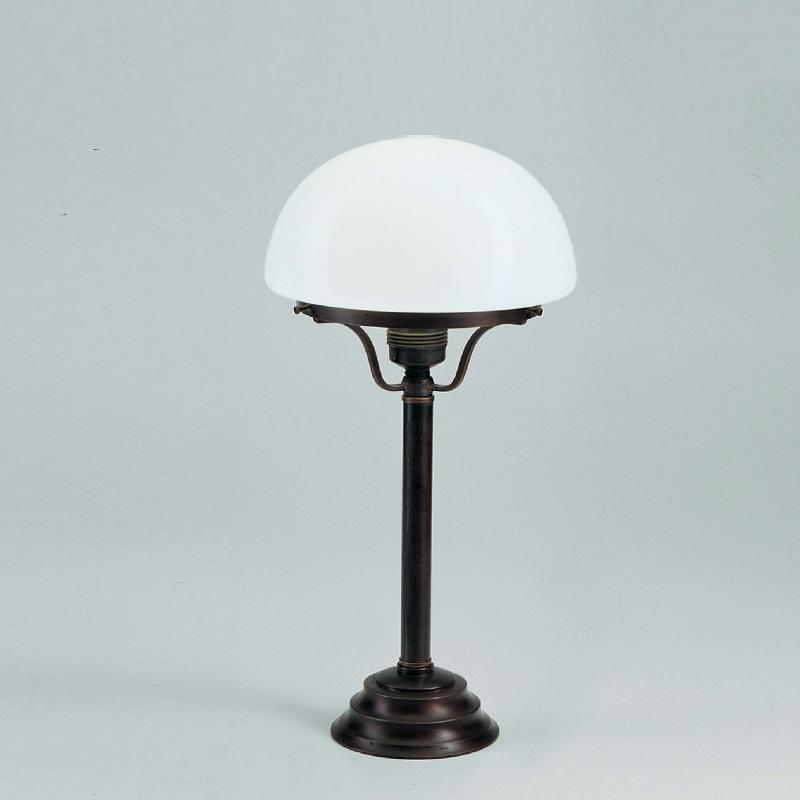 klassische tischleuchte mit opalglas 20cm in berliner messing oder messing antik wohnlicht. Black Bedroom Furniture Sets. Home Design Ideas
