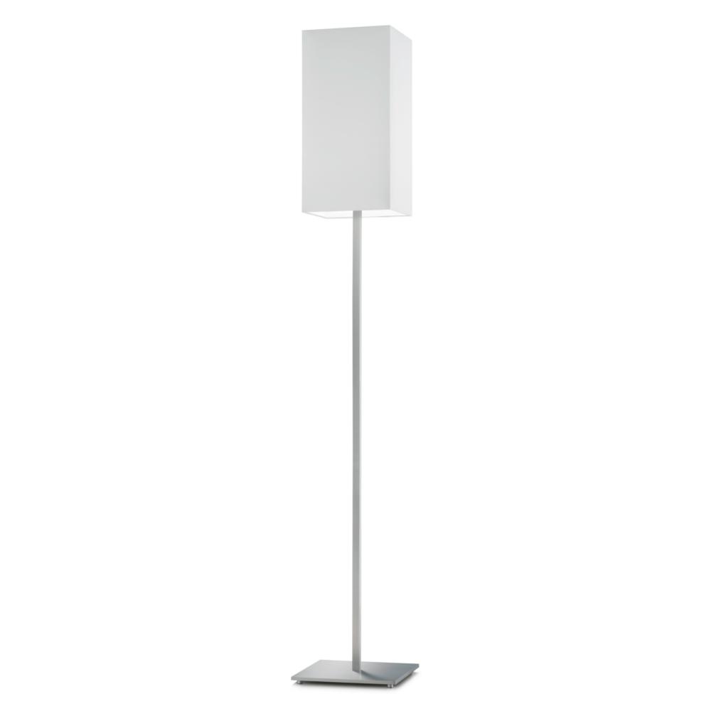 knapstein stehlampe mit schirm wei in quaderform wohnlicht. Black Bedroom Furniture Sets. Home Design Ideas
