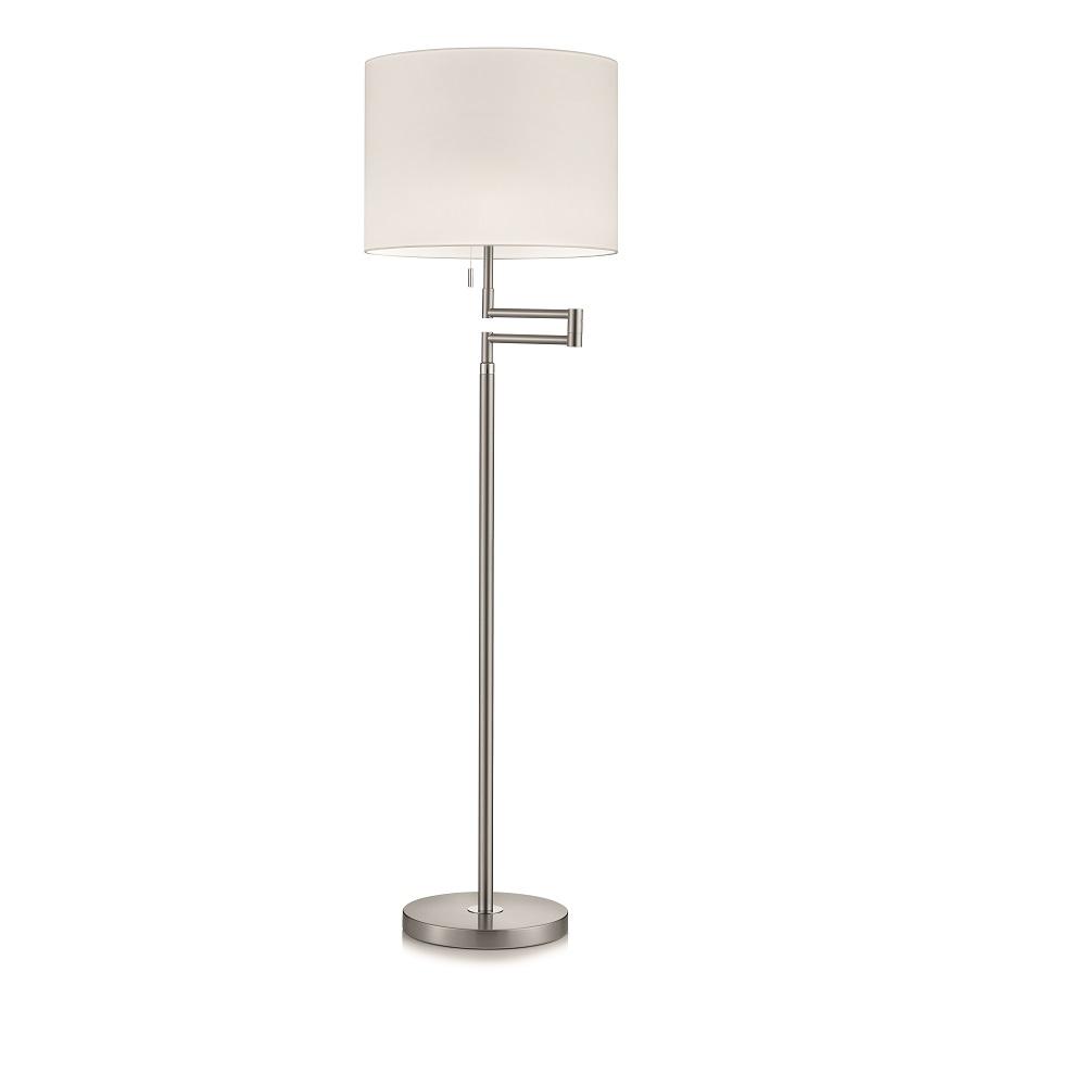 knapstein stehleuchte mit stoffschirm wei 3 oberfl chen. Black Bedroom Furniture Sets. Home Design Ideas