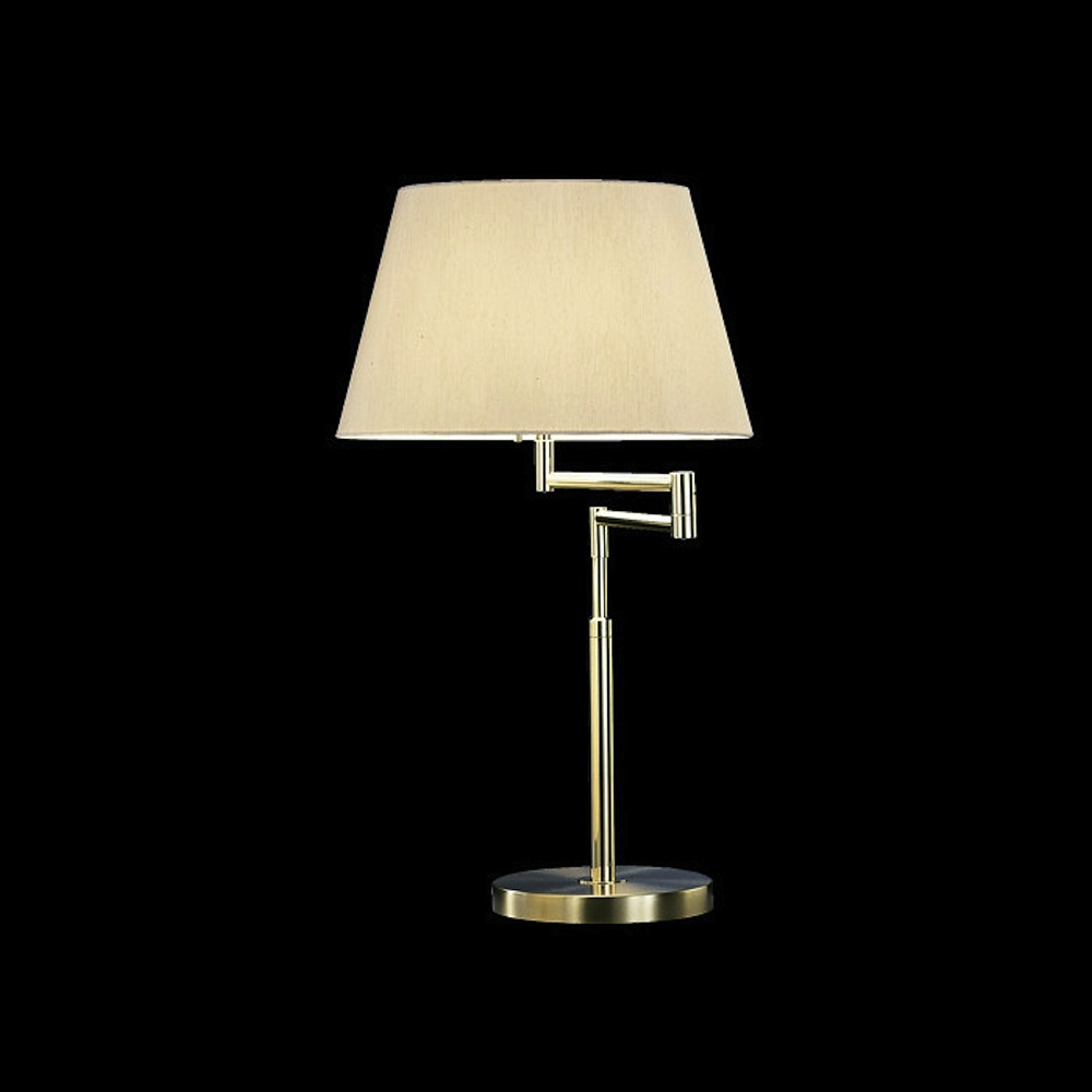 knapstein tischleuchte messing mit stoffschirm wohnlicht. Black Bedroom Furniture Sets. Home Design Ideas