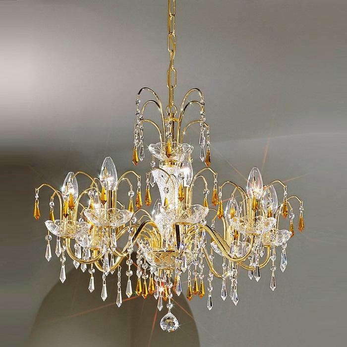 kolarz krone in 24 karat vergoldet mit strass in amber. Black Bedroom Furniture Sets. Home Design Ideas