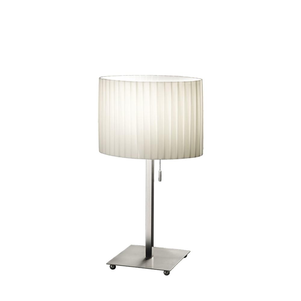 kolarz tischleuchte 1 flammig mit e27 in nickel matt wohnlicht. Black Bedroom Furniture Sets. Home Design Ideas