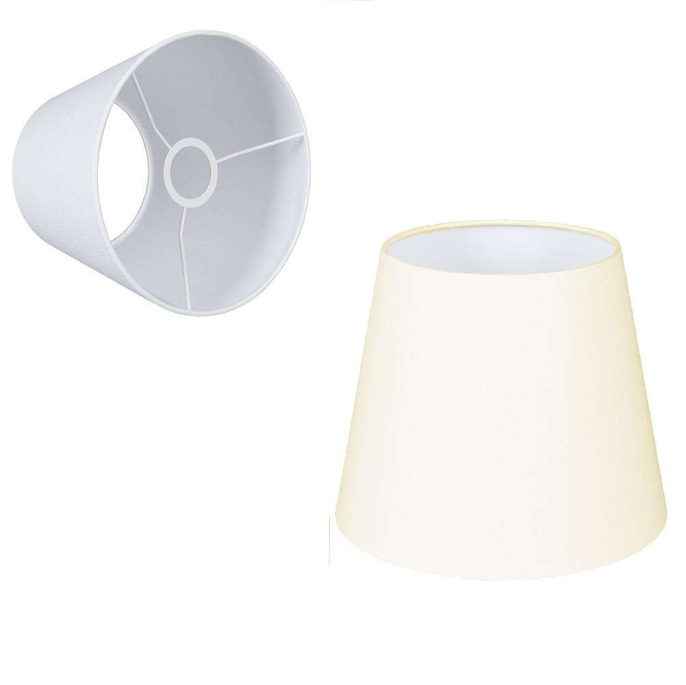 konischer lampenschirm e27 fassung creme oder wei 22cm wohnlicht. Black Bedroom Furniture Sets. Home Design Ideas