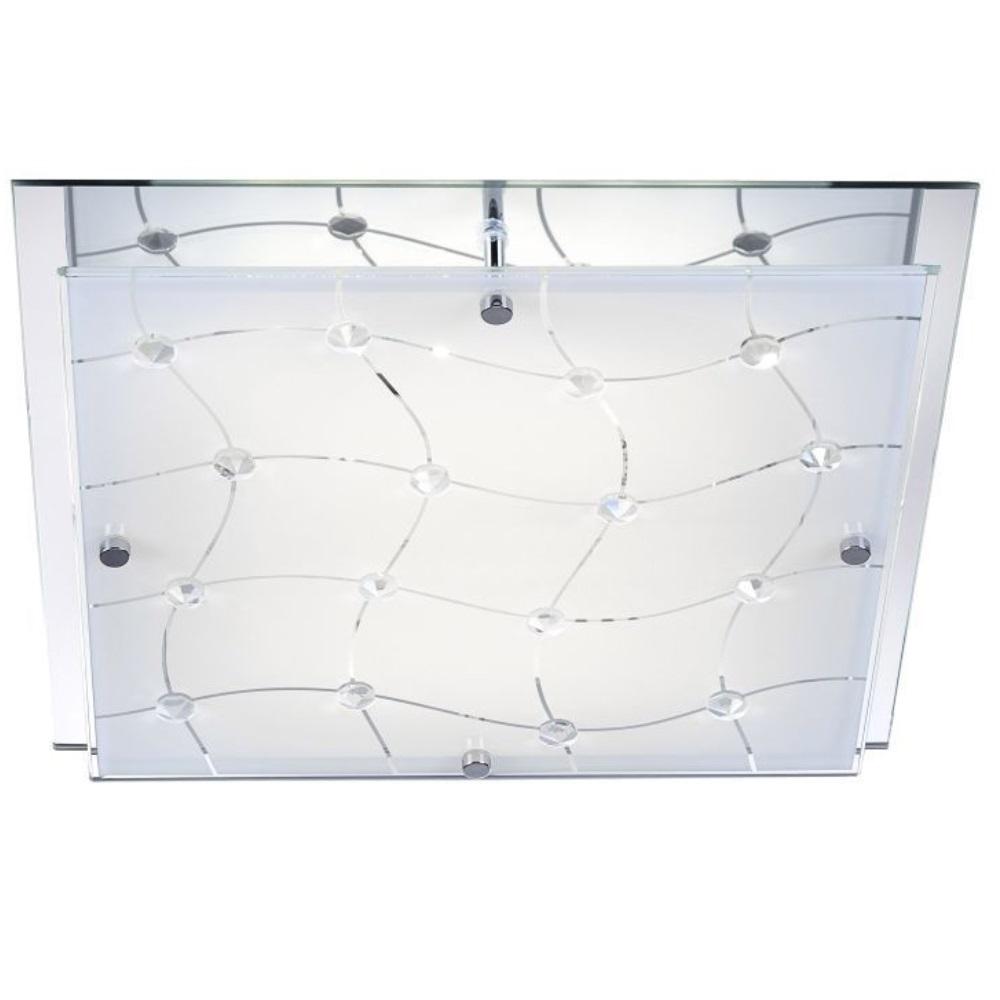 kristall deckenleuchte mit festverbauten leds wohnlicht. Black Bedroom Furniture Sets. Home Design Ideas