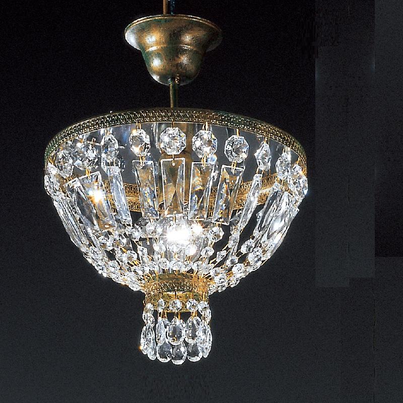 kristall deckenleuchte in gr n gold antik 30cm wohnlicht. Black Bedroom Furniture Sets. Home Design Ideas