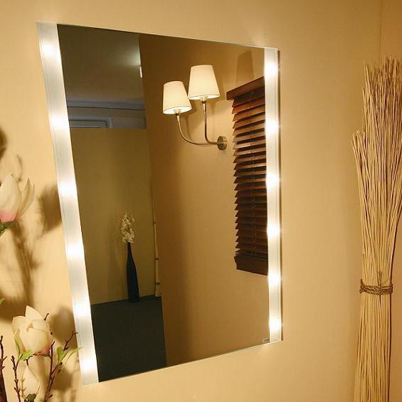 kristallspiegel brightlight mit seitlichem lichtaustritt. Black Bedroom Furniture Sets. Home Design Ideas