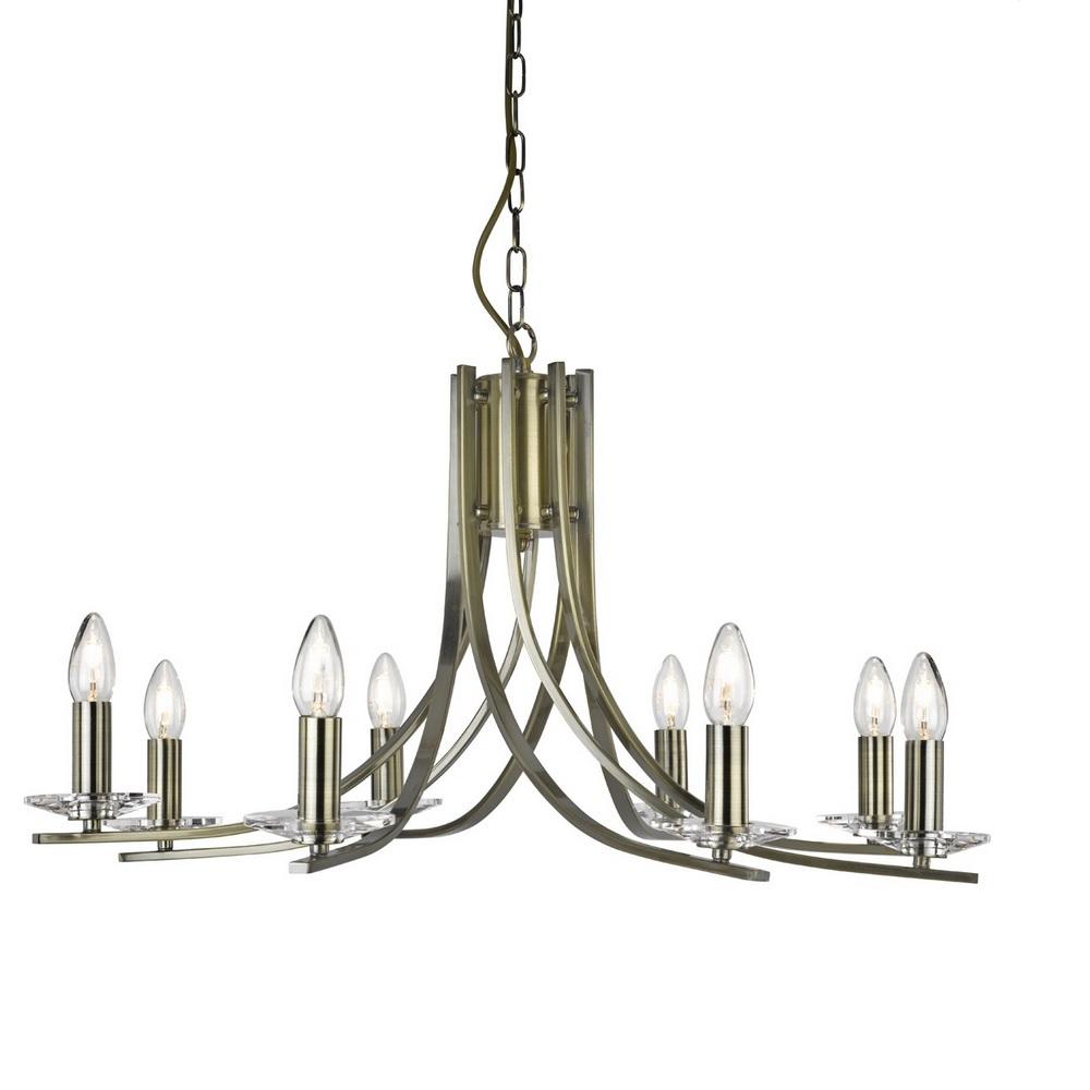 kronleuchter ascona 8 flammig in messing antik messingfarbig messing antik wohnlicht. Black Bedroom Furniture Sets. Home Design Ideas
