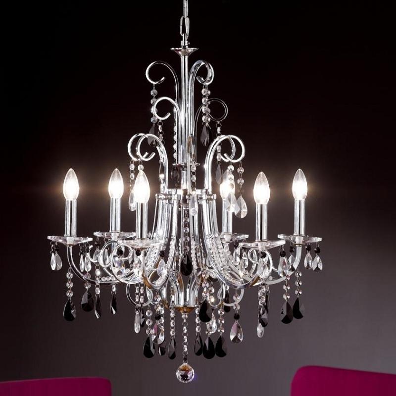 kronleuchter gracia mit echtglasbehang wohnlicht. Black Bedroom Furniture Sets. Home Design Ideas
