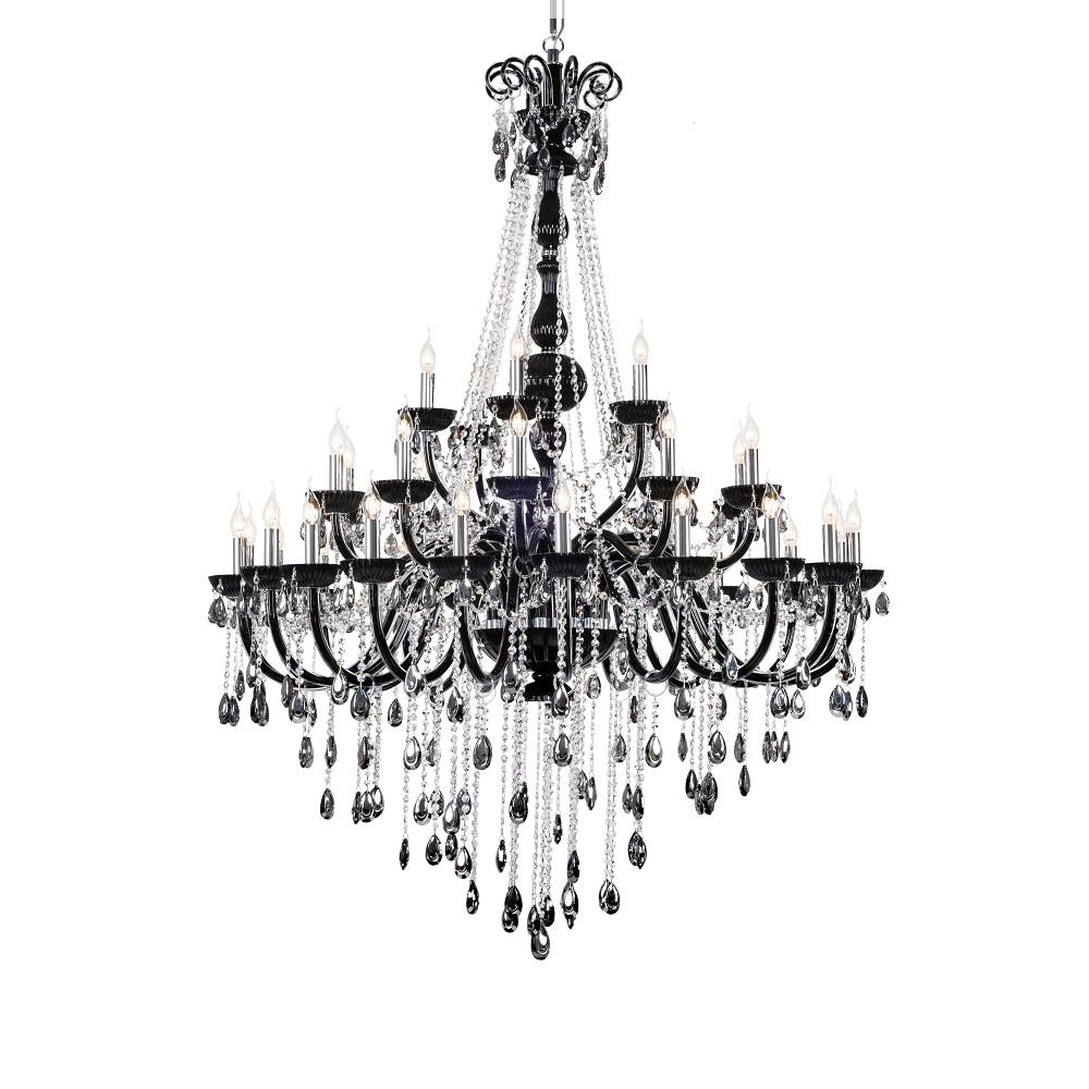 kronleuchter kristall schwarz 35 flg 135cm wohnlicht. Black Bedroom Furniture Sets. Home Design Ideas