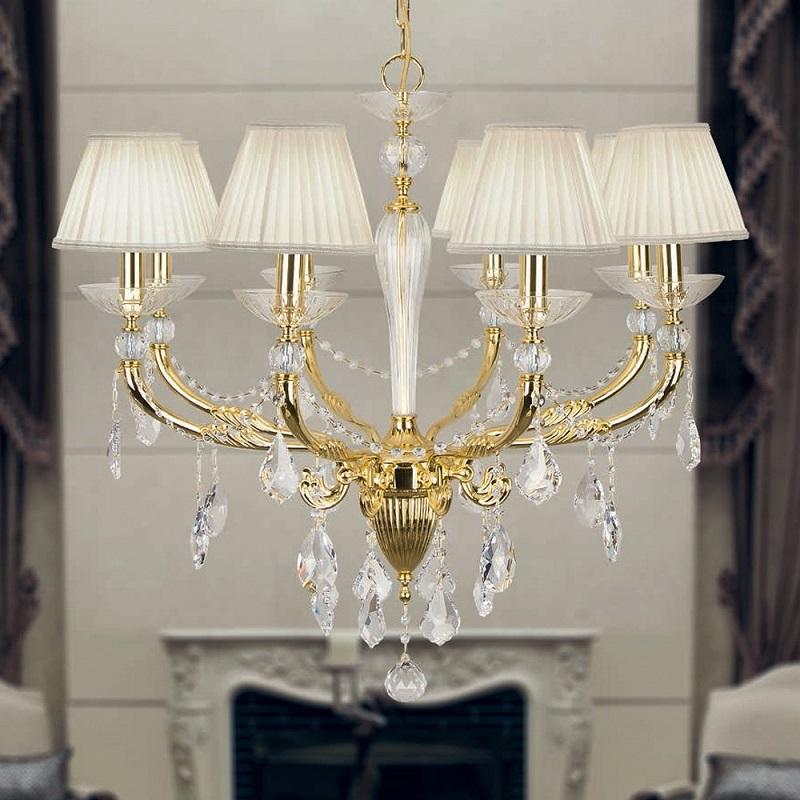 kronleuchter mit plissee schirm verschiedene modelle wohnlicht. Black Bedroom Furniture Sets. Home Design Ideas