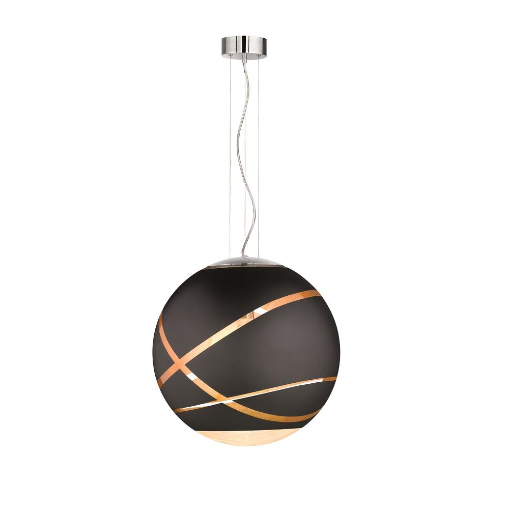 kugel pendelleuchte faro aus schwarzem glas 50cm wohnlicht. Black Bedroom Furniture Sets. Home Design Ideas