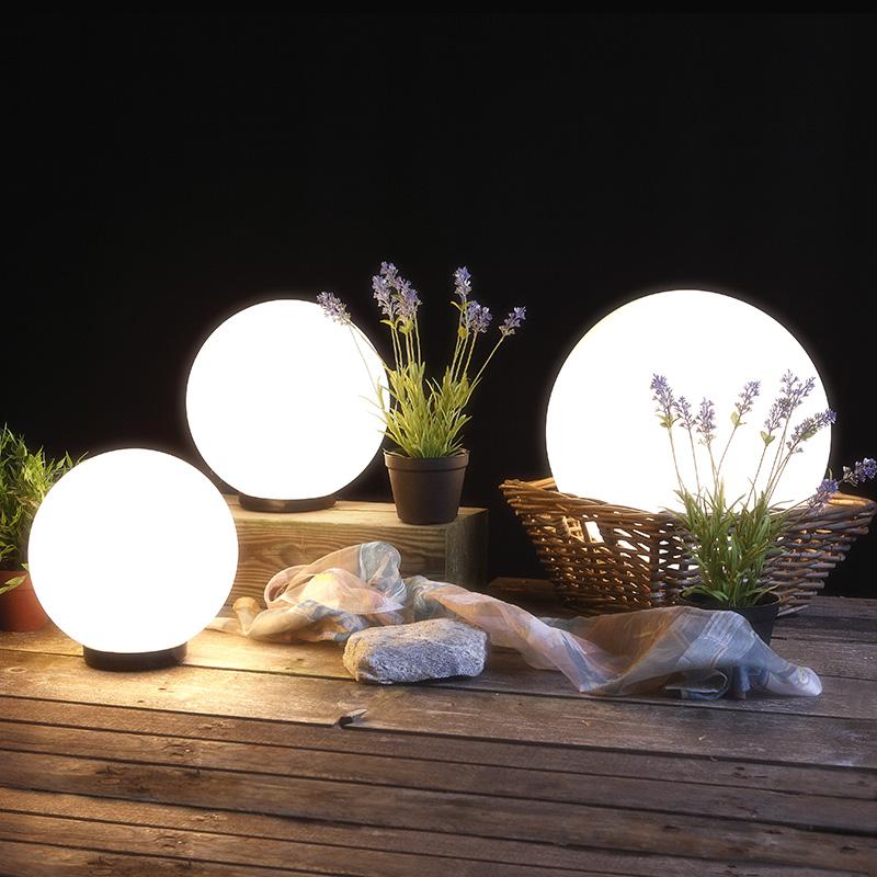 kugelleuchten set 30 cm 40 cm und 50 cm mit erdspie wohnlicht. Black Bedroom Furniture Sets. Home Design Ideas