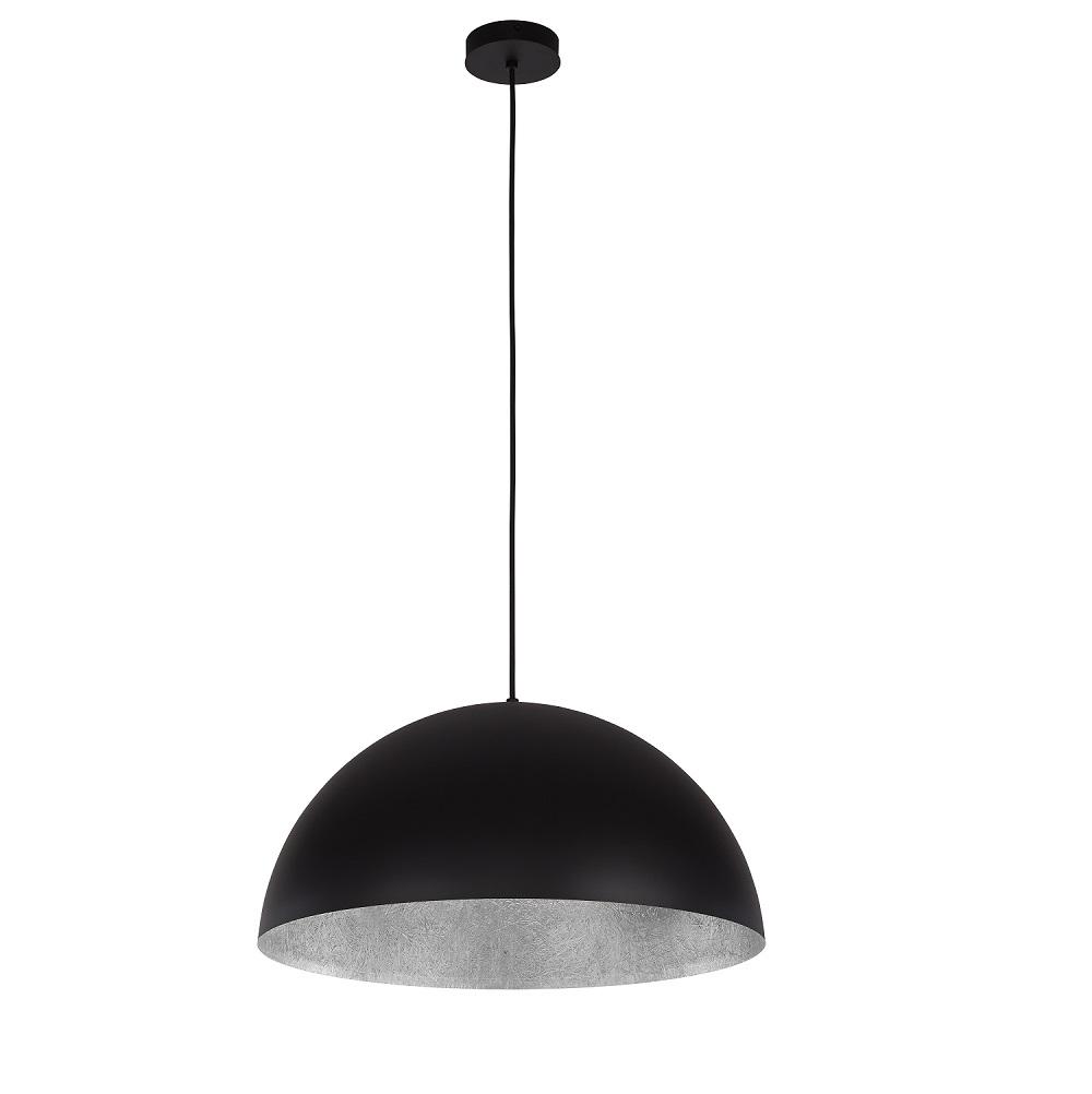 kuppel pendelleuchte tuba 35cm schwarz silber schwarz silber wohnlicht. Black Bedroom Furniture Sets. Home Design Ideas