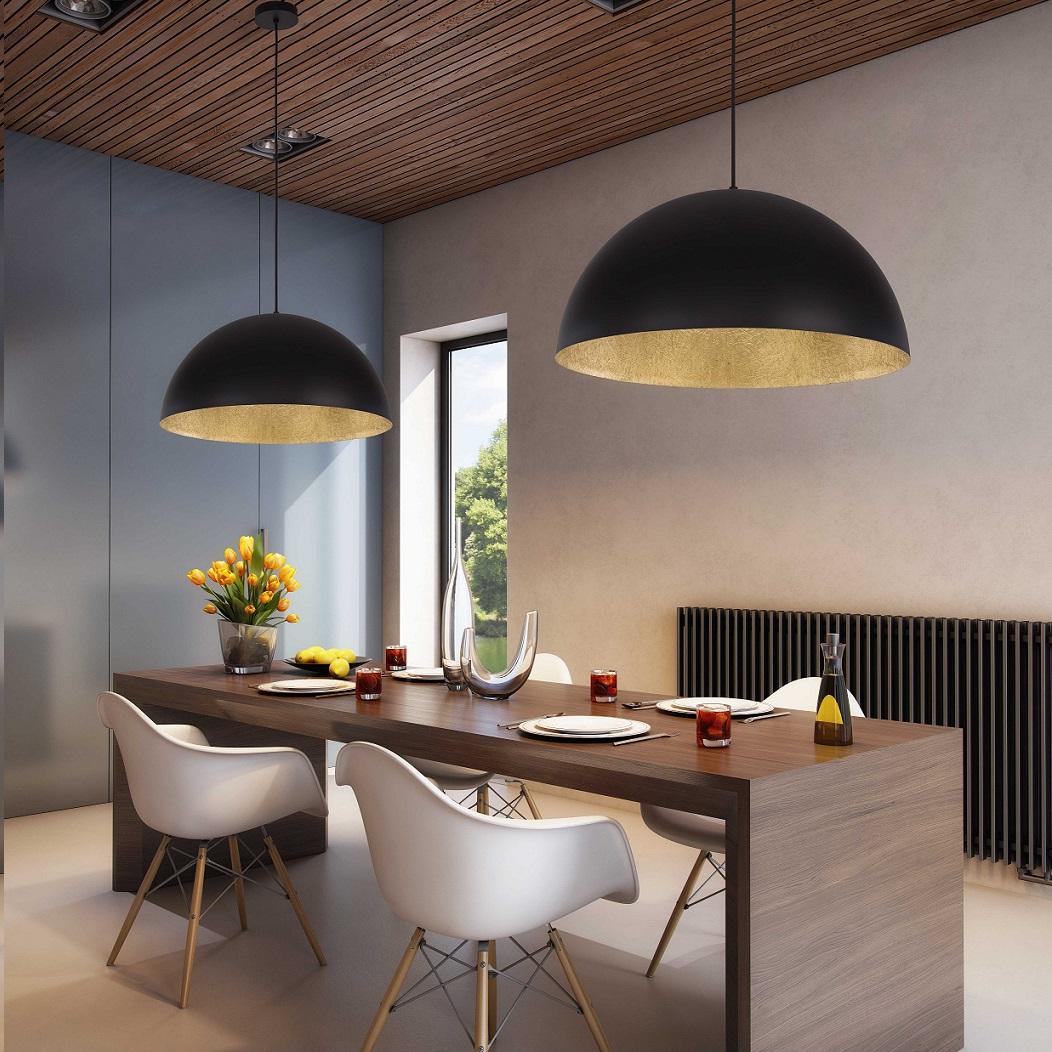 Kuppel pendelleuchte tuba 50cm farbe w hlbar wohnlicht for Design pendelleuchte esszimmer